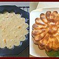 Gâteau rapide aux pèches au sirop