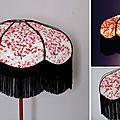 Abat-jour bohème en papier japonais, forme dôme,
