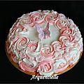 Gâteau roses et papillon