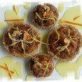 Tartelettes pommes épices+caramel orange et c angl