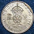 Fautée coin cassé two shillings 1943