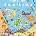 First sticker book : under the sea