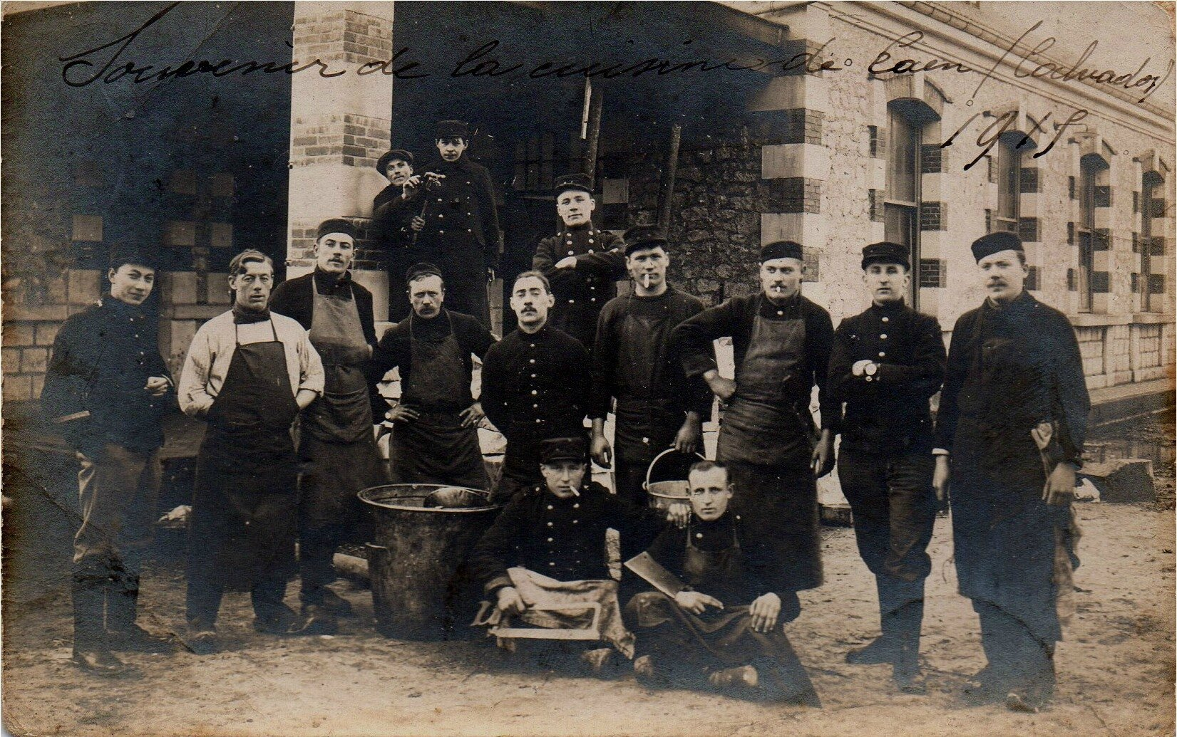 06 Caen, Quartier Claude Decaen, les cuisines, 1915