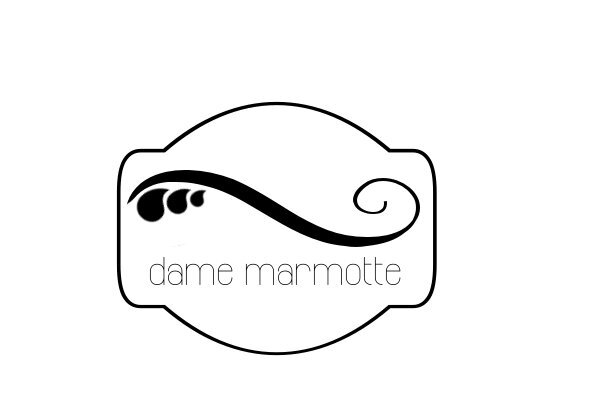 DAME MARMOTTE LOGO CARRE
