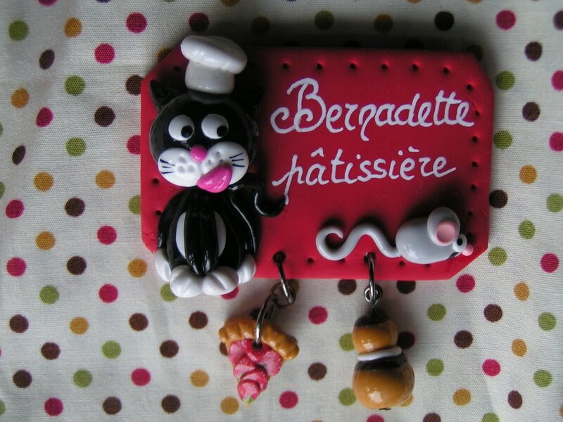 badge chat patissier