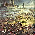 charge de la cavalerie mexicaine à Puebla