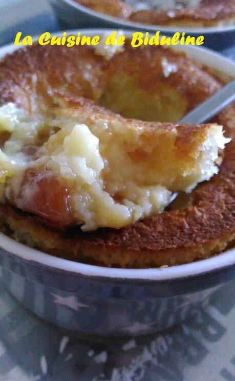 Ramequins Flan coco, cœur caramel beurre salé et fleur de sel