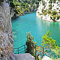 Quinson, basses gorges du Verdon, sentier (04)