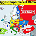 The biggest supermarket chain in each European country