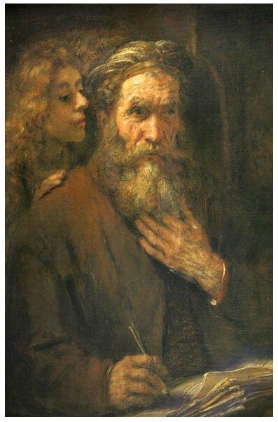 saint Matthieu inspiré par l'ange, Rembrandt