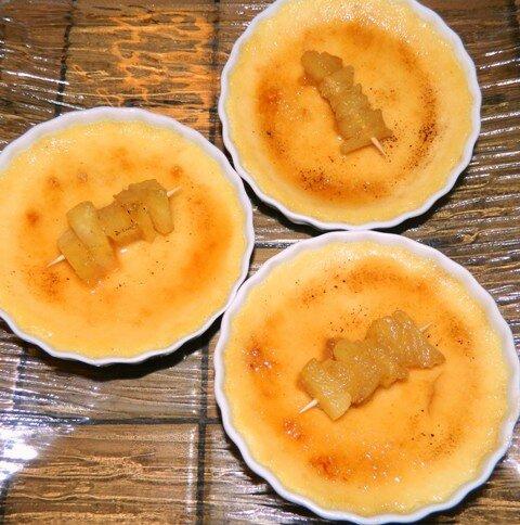 Crèmes brûlées coco vanille