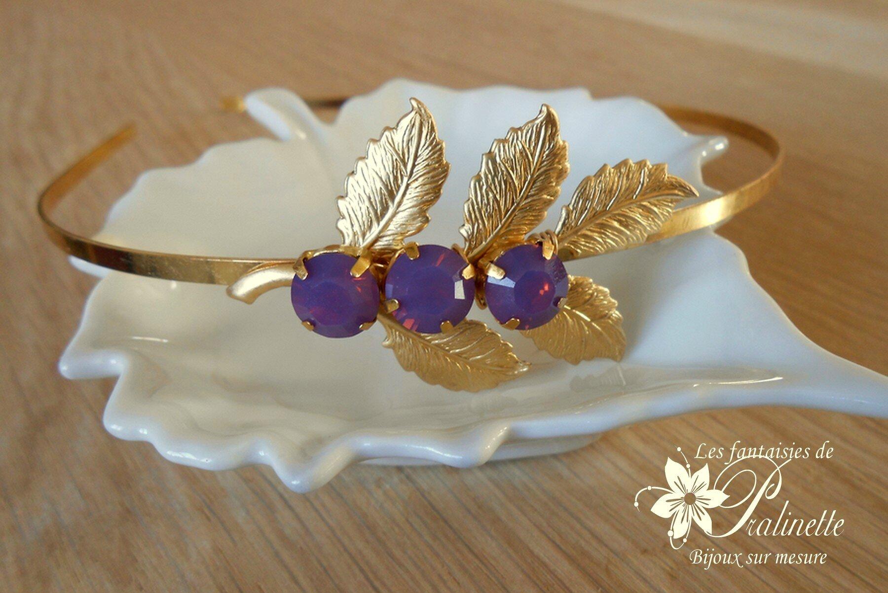 bijoux-mariage-serre-tete-headband-fleuilles-dorées-4