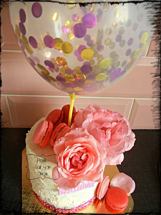gateau prunille rose et ballon prunillefee 2