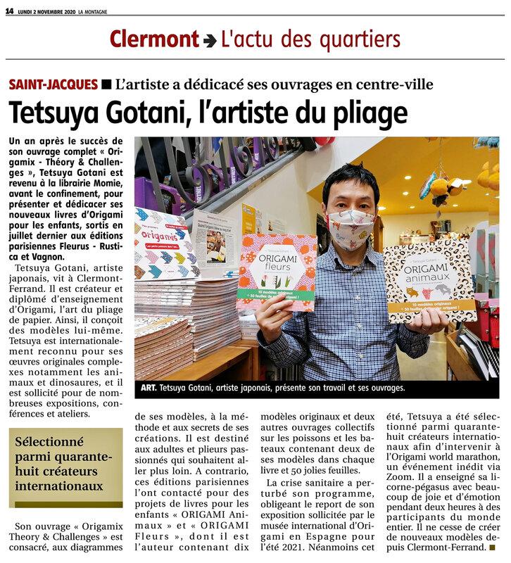 S-Article journal La Montagne Tetsuya Gotani 02112020