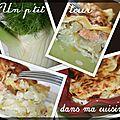 P'tites lasagnes au saumon, fenouil et poireaux