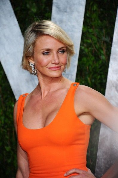 Cameron Diaz robe orange 150 2012