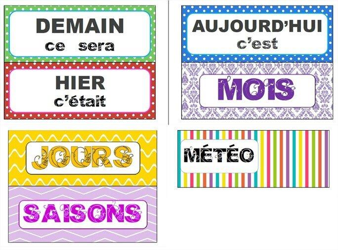 Calendrier Pour La Classe.Calendrier Perpetuel Pour La Classe Les Alphas De Lacatalane