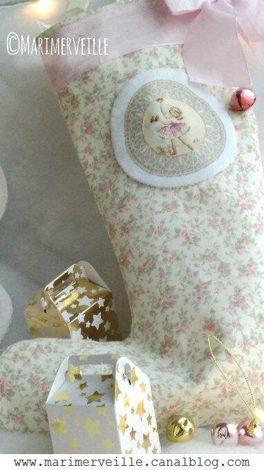 La botte de Noël de marimerveille ballerine vintage