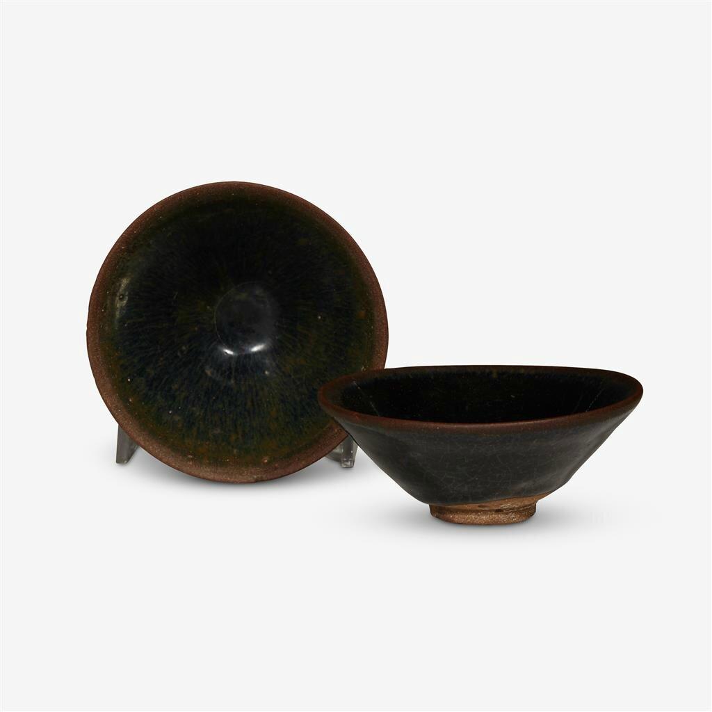 Two Chinese 'jian' 'temmoku' bowls, Jin dynasty (1115–1234)