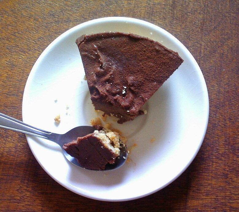 cheesecake au chocolat et caramel beurre sasalé sans c