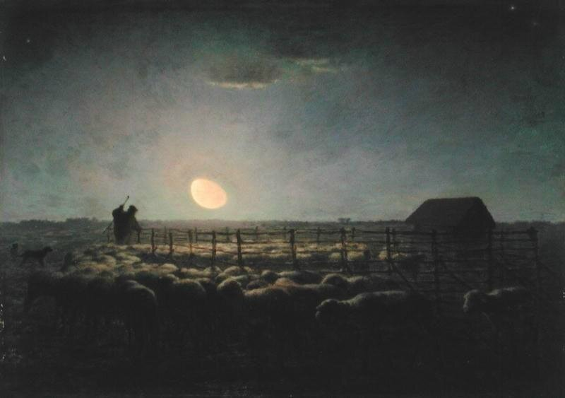 Jean-Francois-Millet-bergerie au clair de lune