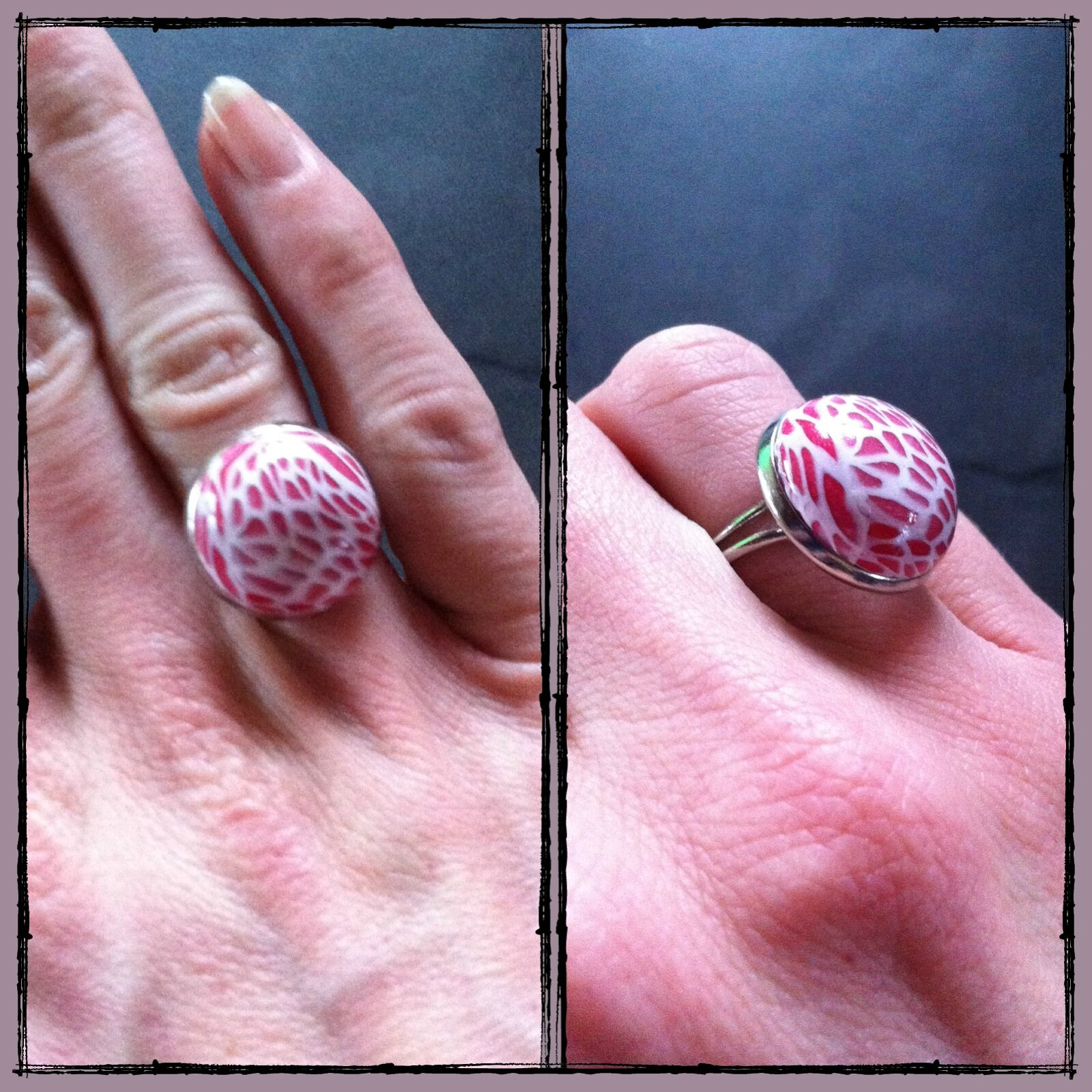 bague rouge transparence