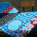 BB2 Plaid géant avec patchwork de tissus