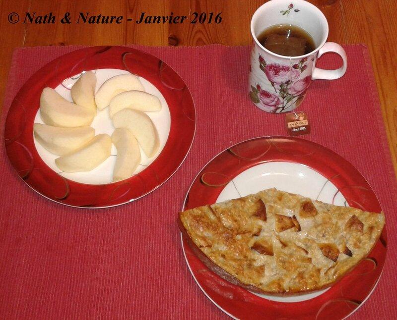 Gâteau pomme-banane aux flocons d'avoine - 4