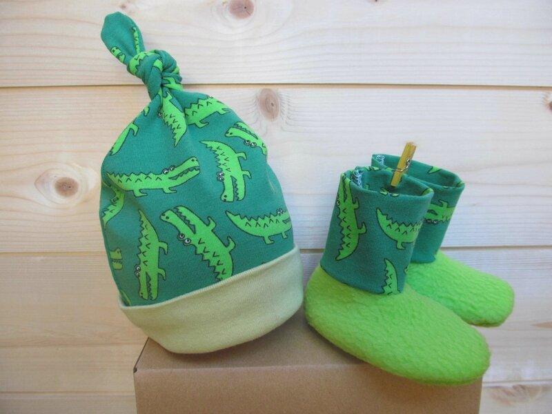 chaussons croco vert