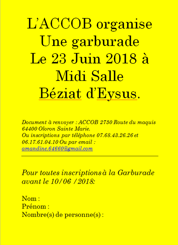 affiche garburade