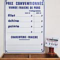 Vintage ... pancarte tarification * boucherie charcuterie