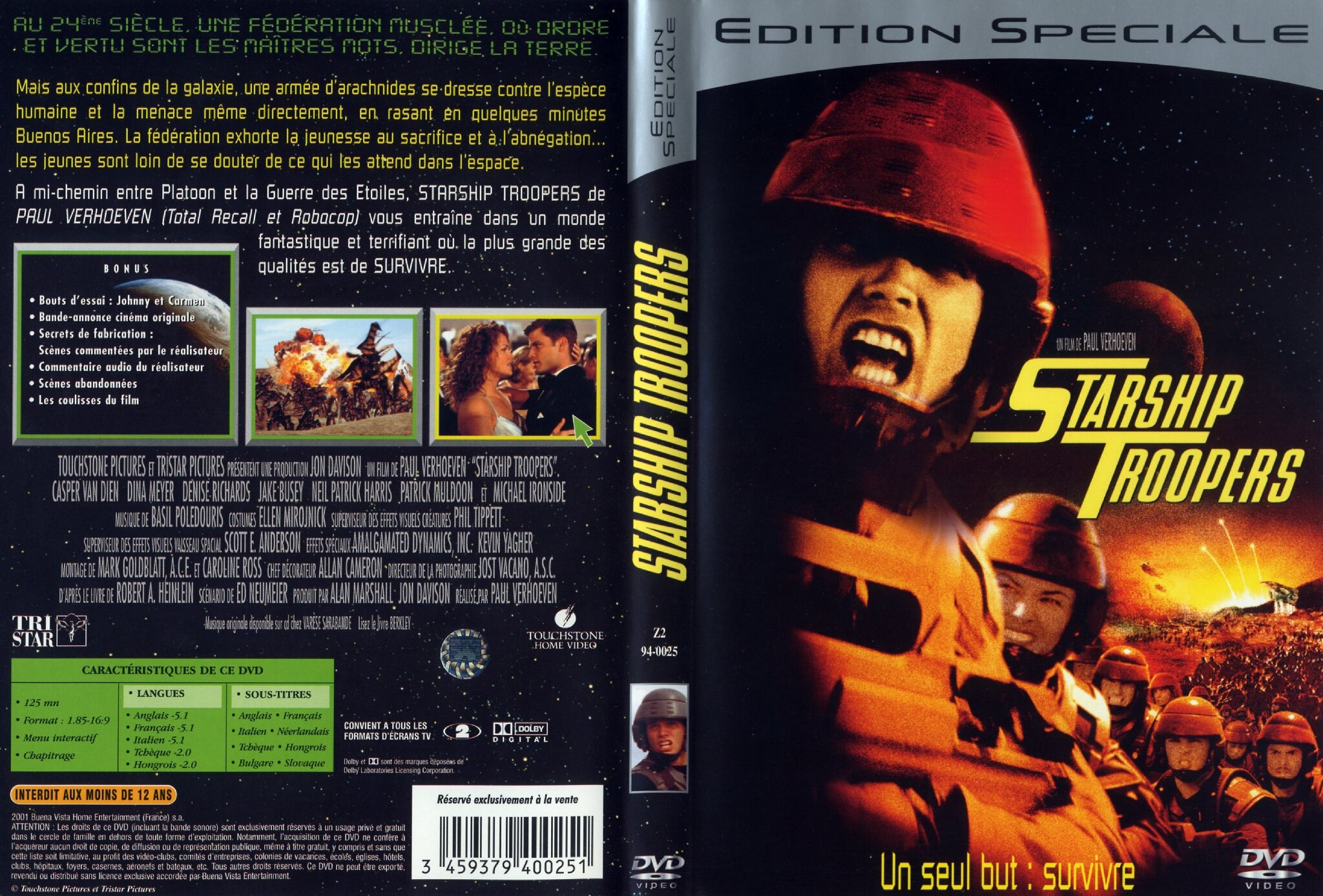 Jaquette Starship Troopers