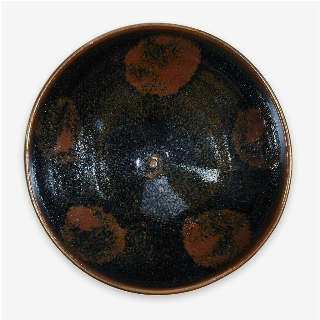 A Chinese 'Henan' splashed black glazed bowl, Northern Song dynasty (960–1127)