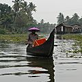 ballade sur les backwaters à Allepy