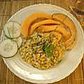 Salade de lentilles corail au melon