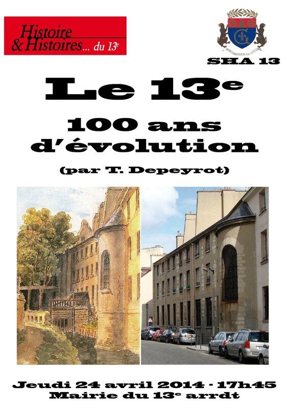 diaporama Paris 13e 100 ans evolution