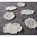 Coasters nuages et fleurs japonaises