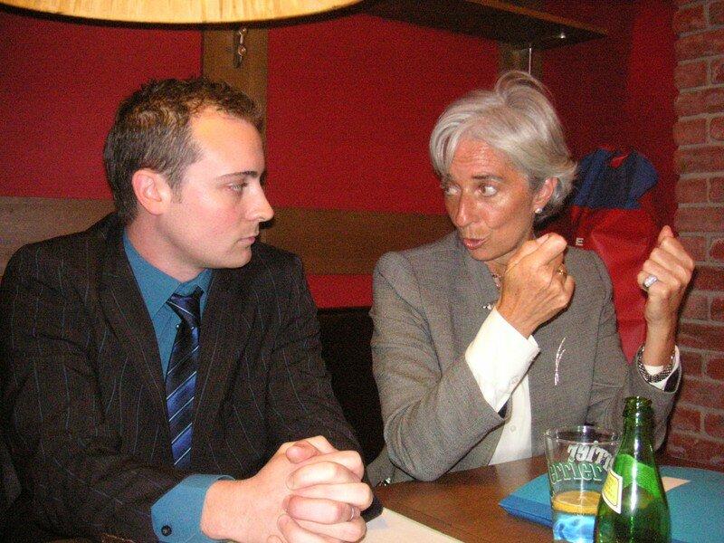Christine Large en débat avec notre rdj Franck Layré Cassou