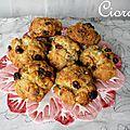 Biscuits au roquefort, noix de cajou et raisins secs