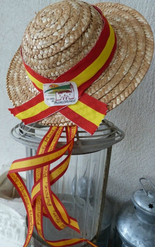 Chapeau paille LAPM-méga broche Guillaume