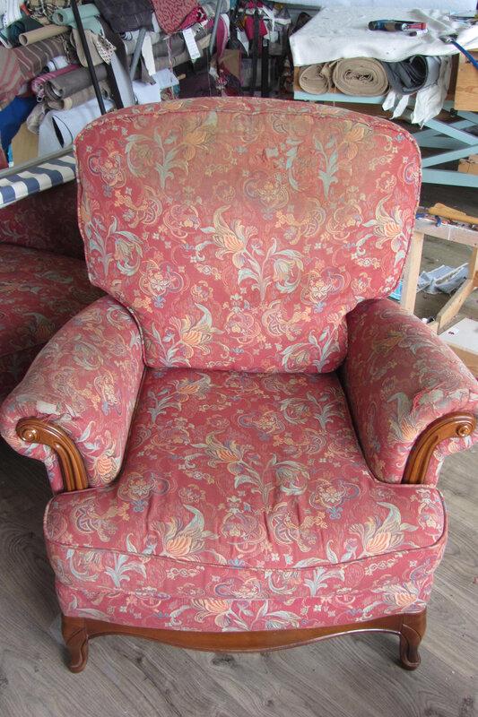 fauteuil à retapisser