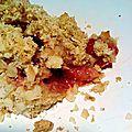 ...crumble fraises/amande...