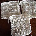 carrés tricot pour plaid