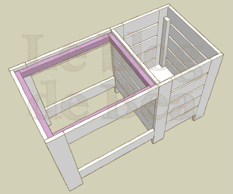 Table basse en bois de palette avec coffre de rangeement