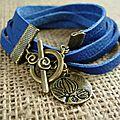 bracelet cuir bleu roi web