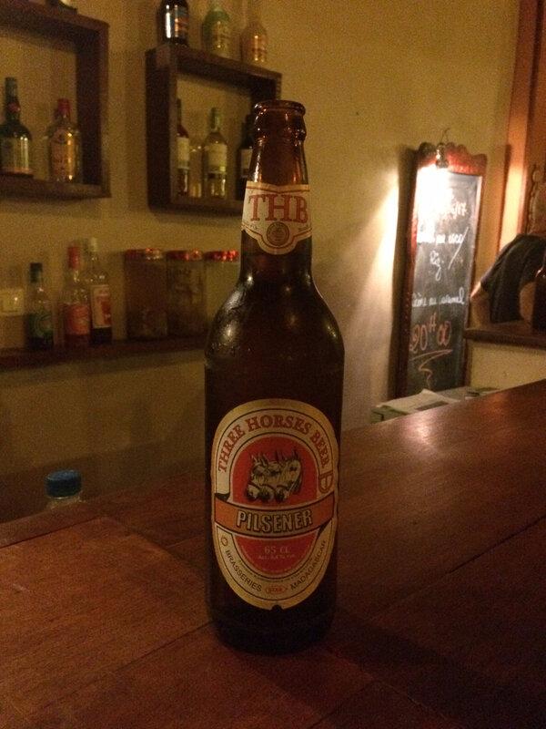 La Three horses beer, LA bière à Mada !