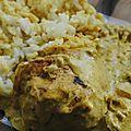 Paupiette de dinde au curry et lait de coco