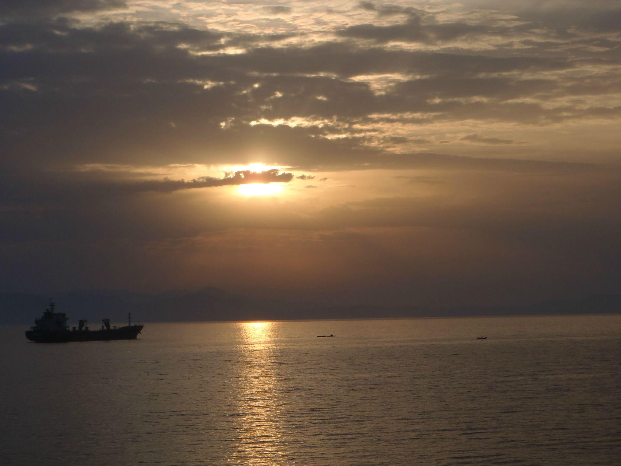 turquie :dikili coucher de soleil