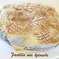 Pastilla aux épinards