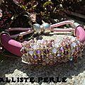 bracelet cuir regaliz et cristal de swarovski